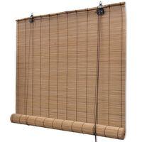 Rullegardin i bambus 120 x 160 cm brun
