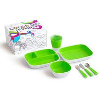 Munchkin spisesæt 7 dele Color Me Hungry grøn