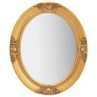 vidaXL vægspejl barokstil 50x60 cm guldfarvet