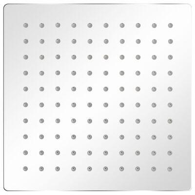 vidaXL Brusehoved rustfrit stål 20x20 cm firkantet