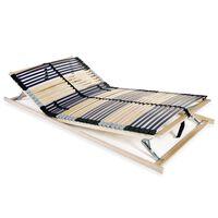 vidaXL lamelbund til seng med 42 lameller 7 zoner 100 x 200 cm