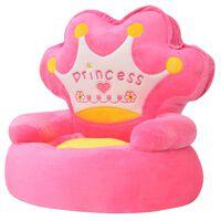 vidaXL børnestol i plys princess pink