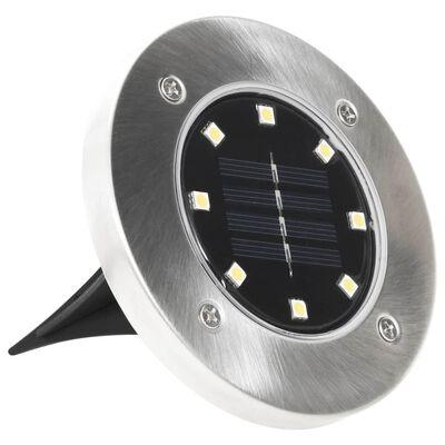 vidaXL solcellejordlys 8 stk. LED-lys hvid