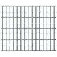 vidaXL havehegnspaneler 2D 2,008x1,63 m 8 m (total længde) grå
