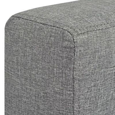 vidaXL sofasæt i to dele stof lysegrå