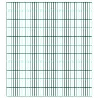 vidaXL havehegnspaneler 2D 2,008x2,23 m 22 m (total længde) grøn