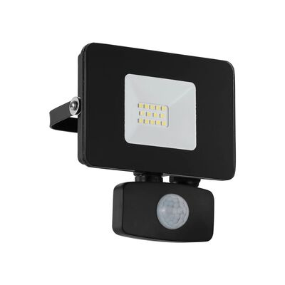 EGLO udendørs LED-væglampe med sensor Faedo 3 10 W 11 x 5 x 13,5 cm sort