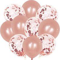 Festballoner Med Konfetti 30-pak Pink
