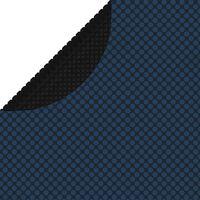 vidaXL flydende solopvarmet poolovertræk 417 cm PE sort og blå