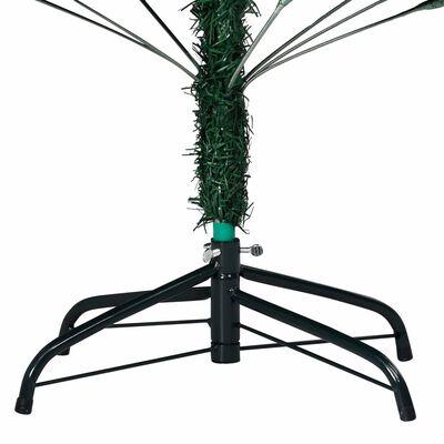 vidaXL kunstigt juletræ med tykke grene 210 cm PVC grøn