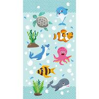 Good Morning badehåndklæde SEAWORLD 75x150 cm aquablå