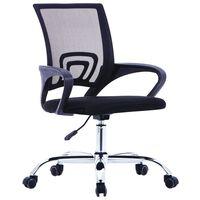 vidaXL kontorstol med ryglæn i netstof stof sort