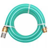 vidaXL sugeslange med messingstik 3 m 25 mm grøn