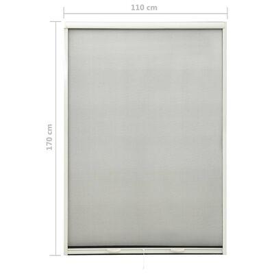 vidaXL nedrullelig insektskærm til vinduer 110x170 cm hvid