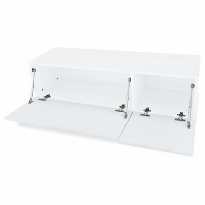 vidaXL TV-skab spånplade 120x40x34 cm højglans hvid