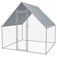 vidaXL udendørs hønsebur galvaniseret stål 2 x 2 x 1,92 m