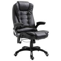 vidaXL kontorstol med massagefunktion polyester sort