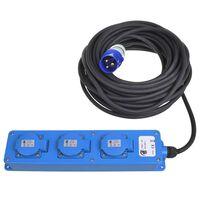 ProPlus 3-vejs Schuko-stik 20 m 2 USB