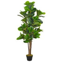 vidaXL kunstig plante violinfigen med urtepotte grøn 152 cm
