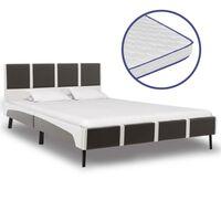 vidaXL seng med madras i memoryskum kunstlæder 140 x 200 cm