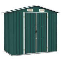 vidaXL haveskur 205x129x183 cm galvaniseret stål grøn