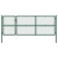 vidaXL havelåge 125x350 cm stål grøn