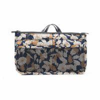 Taske i taske Håndtaske Insert Bag Insert Flower Beige