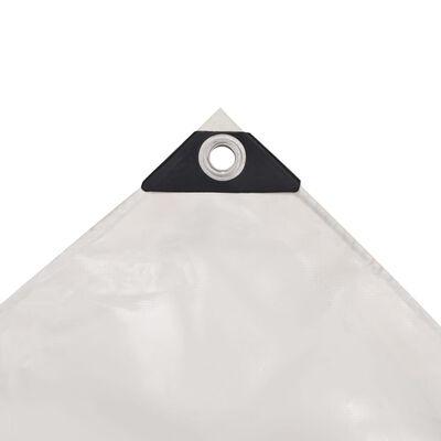 vidaXL presenning 650 g/m² 4 x 4 m hvid