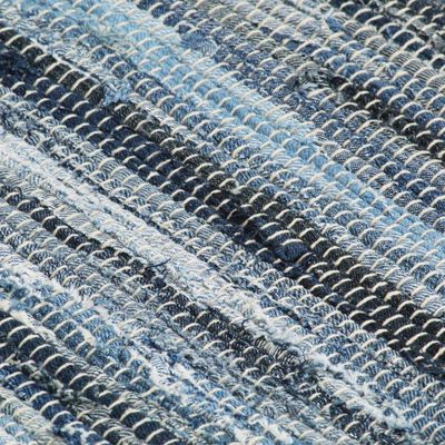 vidaXL dækkeservietter 4 stk. 30 x 45 cm bomuld chindi denimblå
