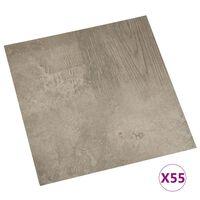 vidaXL selvklæbende gulvbrædder 55 stk. 5,11 m² PVC grå