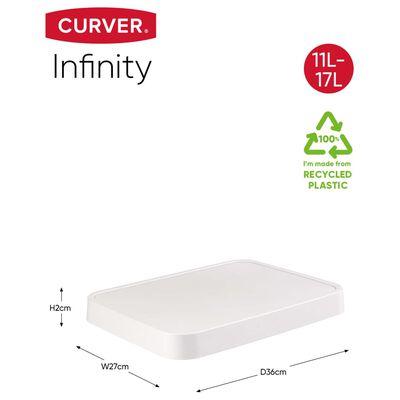Curver opbevaringskurv med låg Infinity 4 stk. 11 l + 17 l hvid