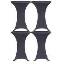 vidaXL bordovertræk i stretch 4 stk. 80 cm antracitgrå
