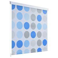 vidaXL rullegardin til brusekabine 140 x 240 cm cirkel-print
