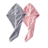 2-pak mikrofiberhåndklæde - Grå / lyserød