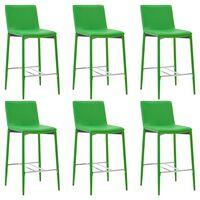 vidaXL barstole 6 stk. kunstlæder grøn