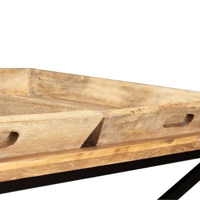 vidaXL sofabord i massivt mangotræ 110 x 55 x 42 cm