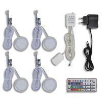 LED belysning, runde til kommoder 4-pak