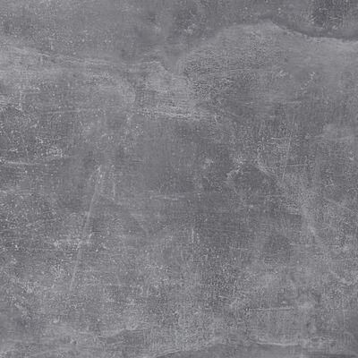 FMD væghængt hylde med 4 rum betongrå og hvid