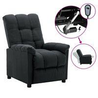 vidaXL elektrisk lænestol stof mørkegrå
