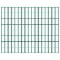vidaXL havehegnspaneler 2D 2,008x1,63 m 30 m (total længde) grøn