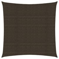 vidaXL solsejl 3,6x3,6 m 160 g/m² HDPE brun