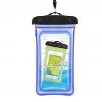 Flydende vandtæt mobil taske - universal - blå