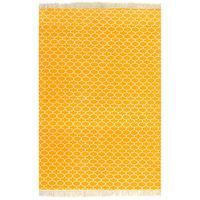 vidaXL kilim-tæppe med mønster bomuld 120 x 180 cm gul