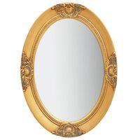 vidaXL vægspejl barokstil 50x70 cm guldfarvet