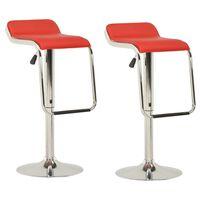 vidaXL barstole 2 stk. stof og bøjet træ rød