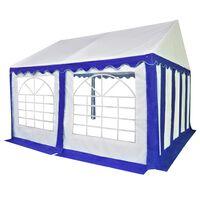 vidaXL havetelt 3x4 m PVC blå og hvid