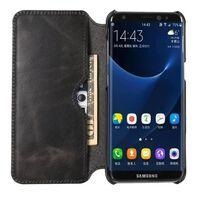 Wallet slank ægte læder Samsung Galaxy S8 (SM-G950F)-sort