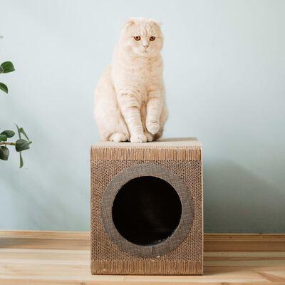 DISTRICT70 kradsetræ/-hule til katte MIXTAPE sort