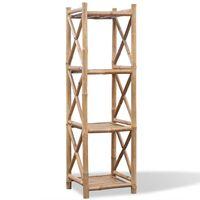 Firkantet bambusreol med 4 niveauer