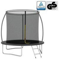vidaXL trampolinsæt rund 244x55 cm 100 kg